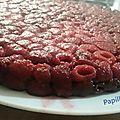 Gâteau renversé aux framboises