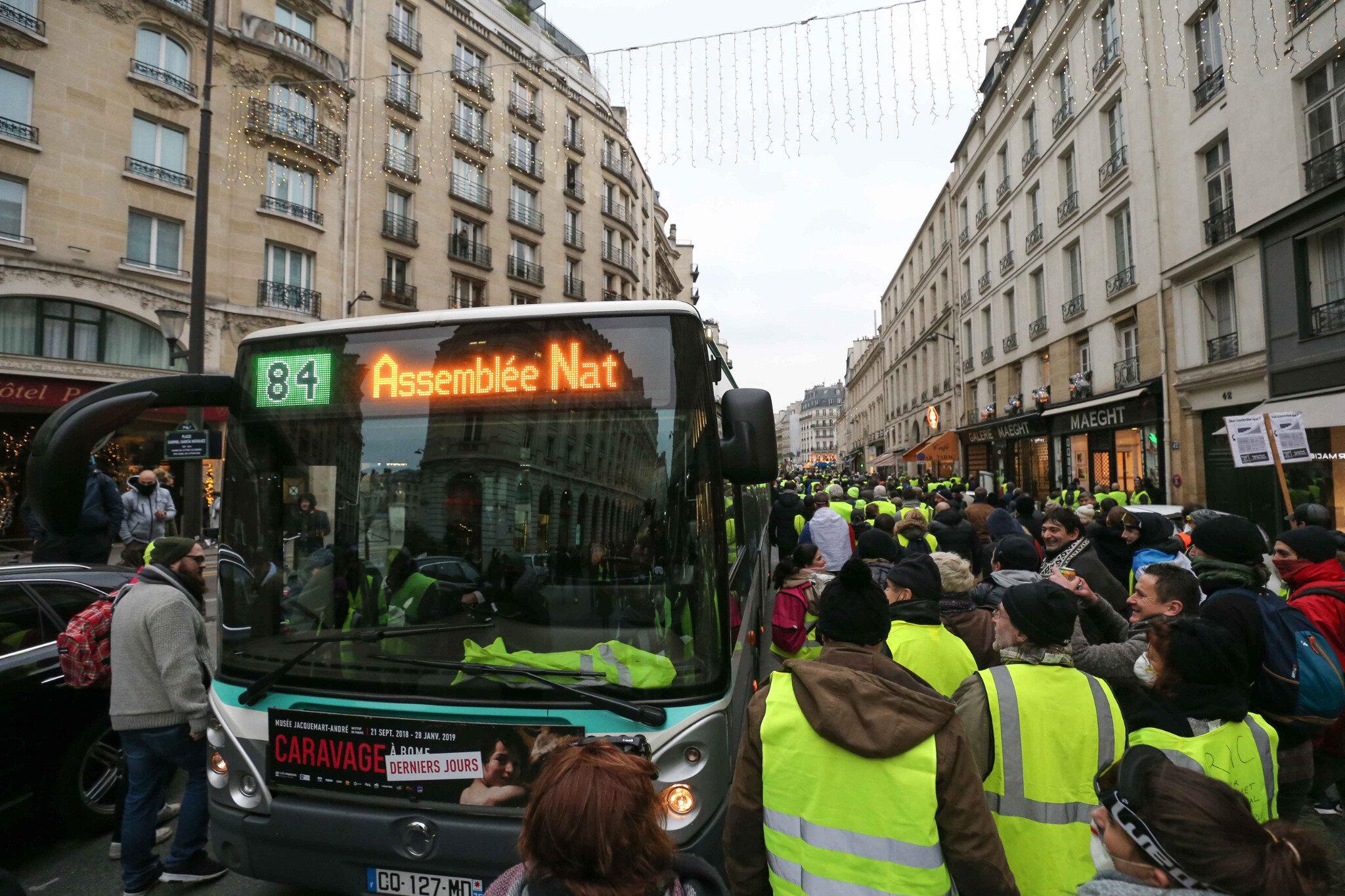 Crise des gilets jaunes : un acte 8 émaillé de heurts à Paris. © Michel Stoupak. Sam 05.01.2019, 15h42m00.