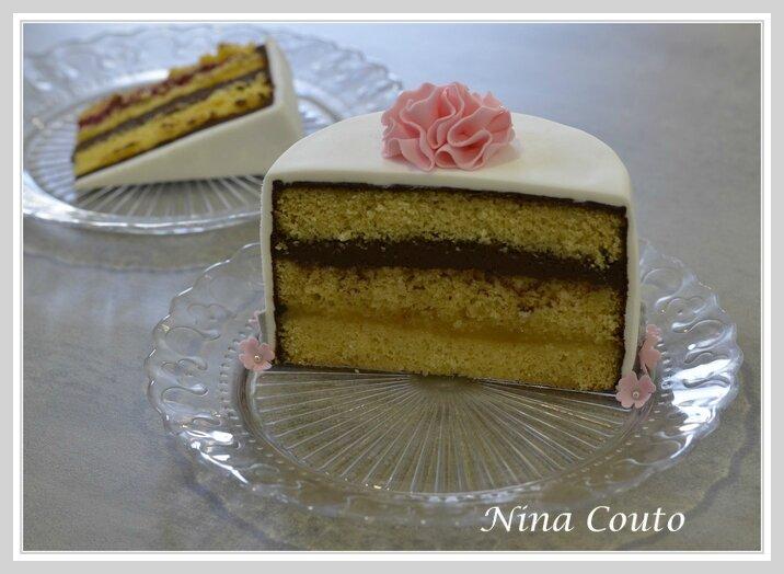 Dégustation: sponge cake, ganache chocolat et citron1