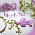 Porte-clés bonbon et breloques (faites mains y compris les anneaux)