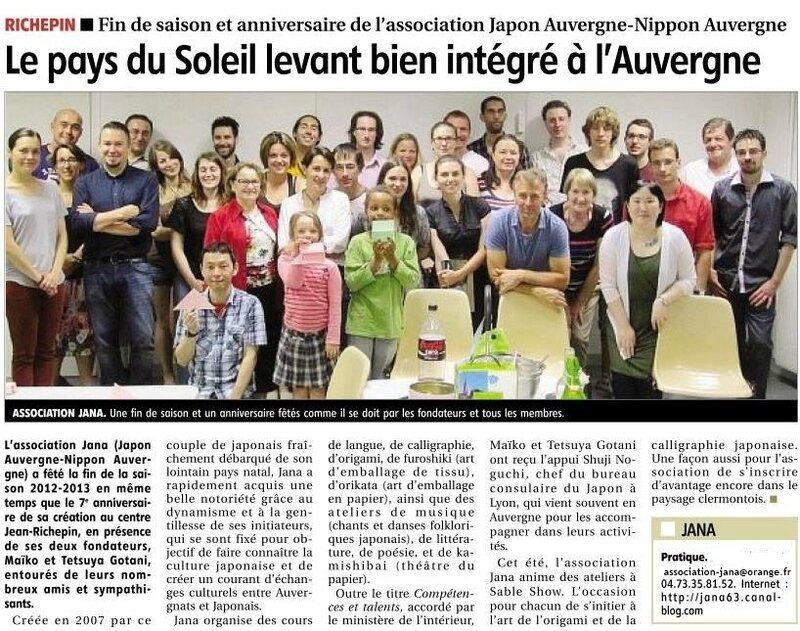 article journal La montagne en 2013