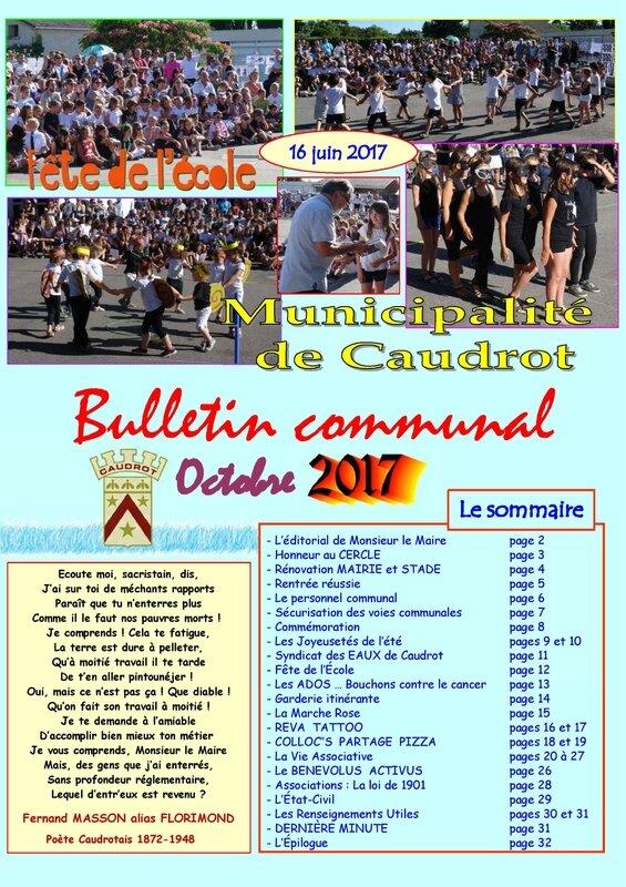 Bulletin communal OCTOBRE 2017 COUV