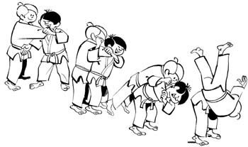 Ippon-Seoi-Nage-Deplacement