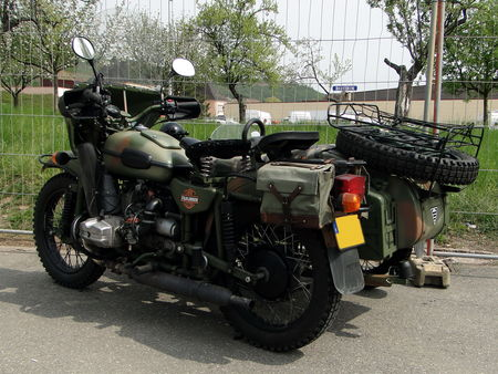 Motocyclette URAL avec Side Car Bourse Echanges de Soultzmatt 2010 2