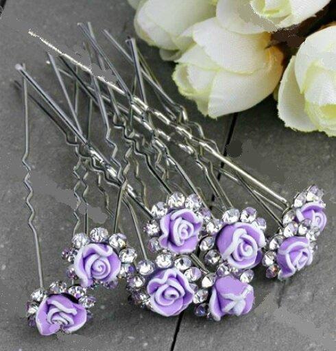 pics cheveux violets fimo