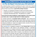 Transformation a marche forcee tract §