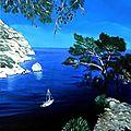 Les Calanques - Huile 35 x 24 - 13 août 2009