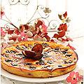 Gâteau moelleux aux quetsches, poudre d'amandes et fromage blanc....