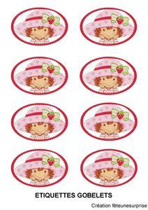 etiquettes gobelets charlotte aux fraises
