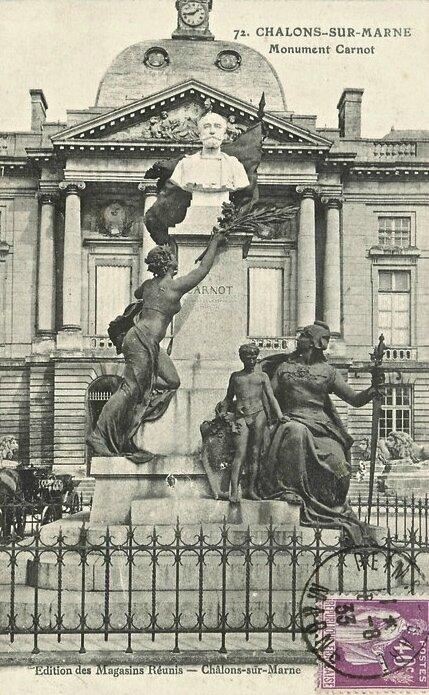 monument Carnot Châlons-sur-Marne cpa