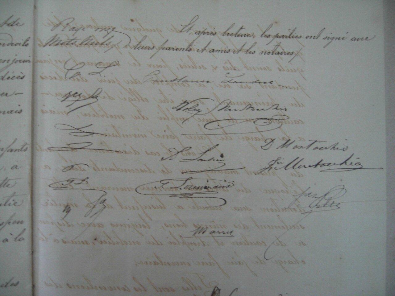 Montocchio Pierre Félix Volcy & Lousier_Contrat Mariage 1870