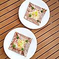 ...galette œuf jambon fromage de cyril lignac dans tous en cuisine, 2eme édition...