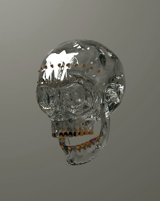 Julien Brunet, gemstone skull