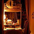 alcôve lit superposé bureau devant