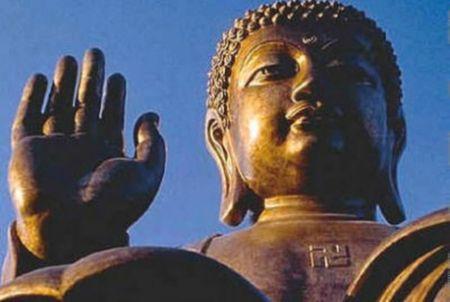 Bouddha à la svatiska
