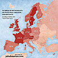 McDonald's density in Europe