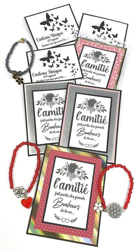 cartes et bracelets vanillejolie