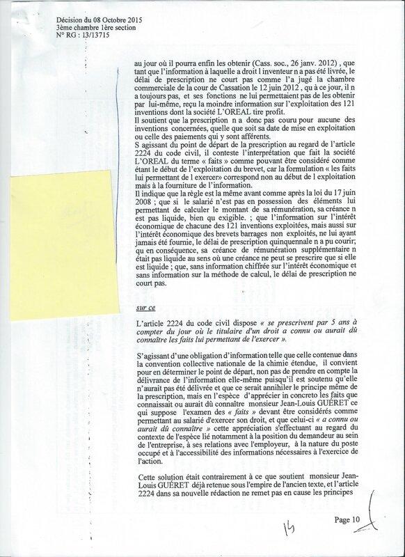 GUERET L'OREAL 10
