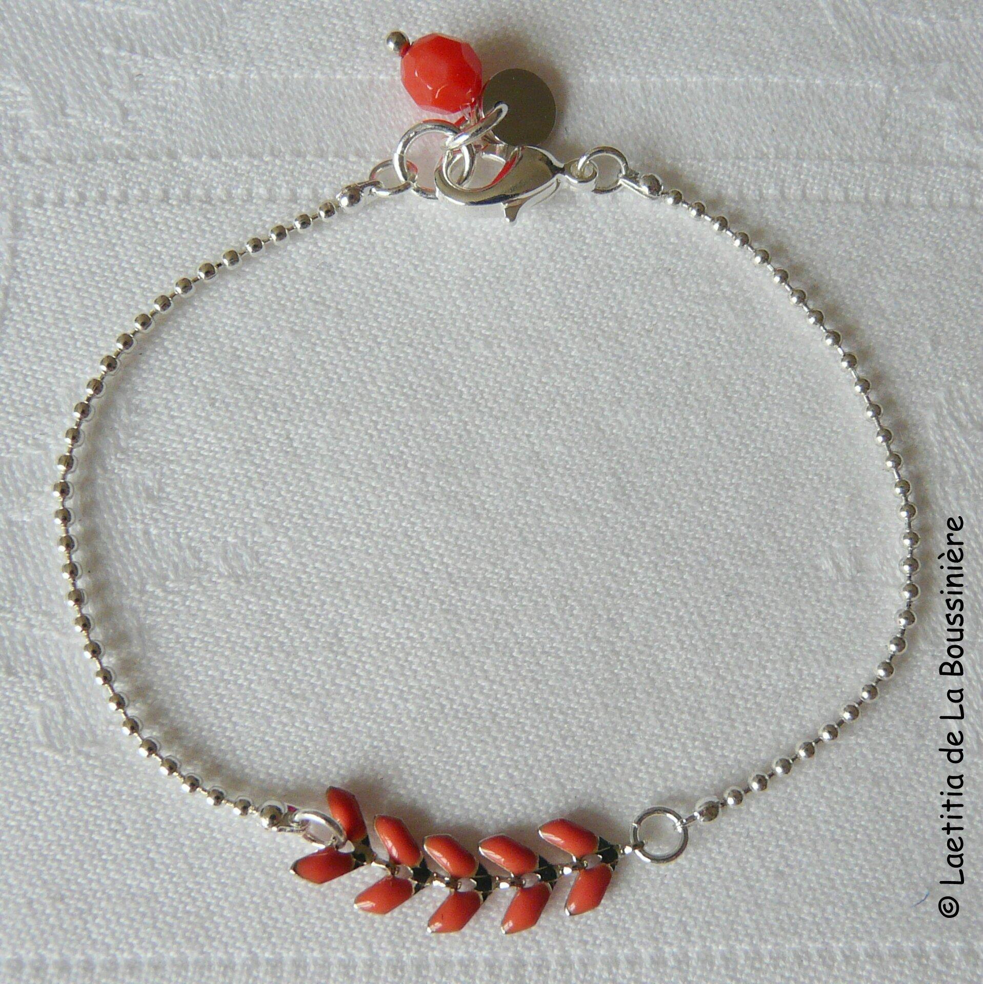 Bracelet César (corail argent)-001