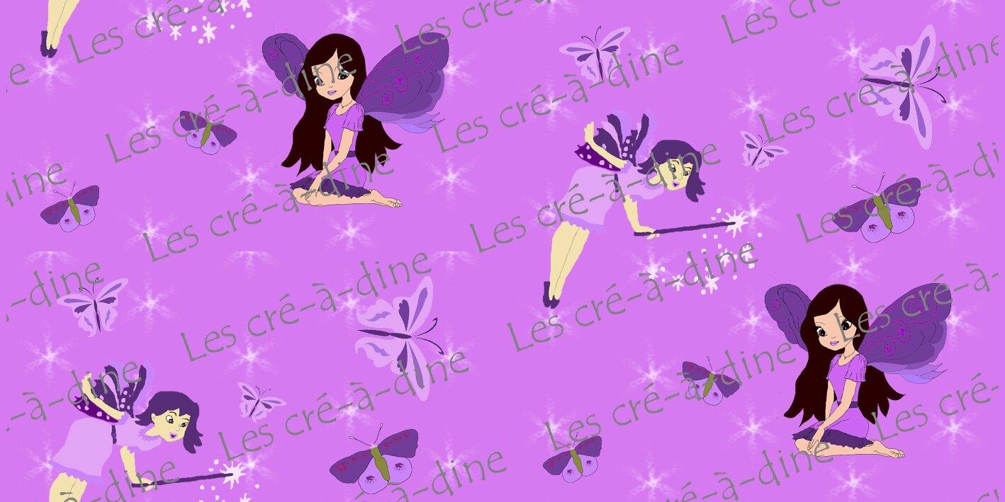 tissus fées papillons