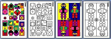 Les nanoug 39 coloriages g om triques le tour de ma classe - Coloriage magique ps ms ...