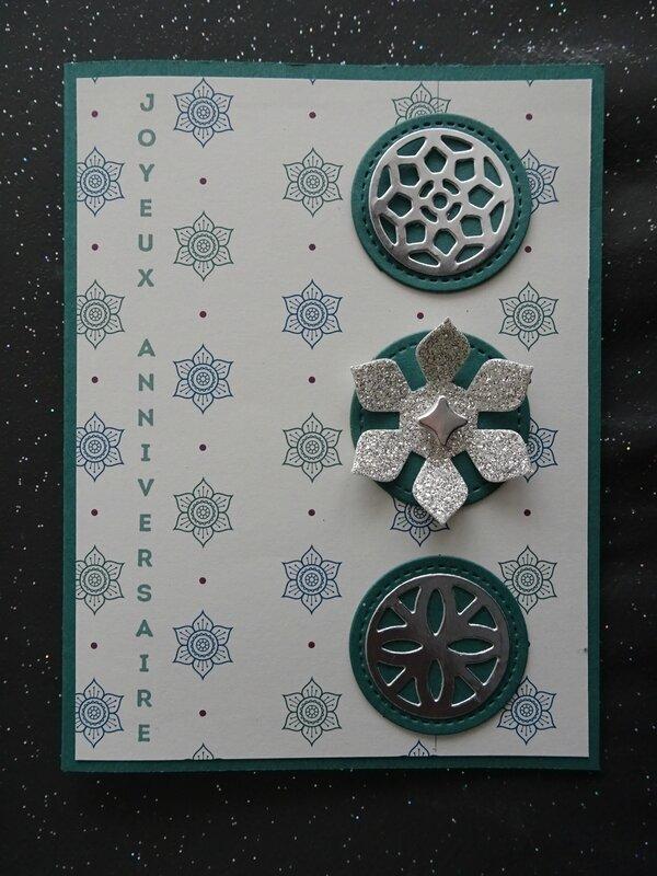 16 Carte Palais oriental vert, bleu et argent