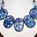 collier fleur bleue 2