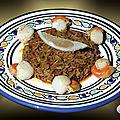 Noix de saint-jacques, soubressade et riz de kampot !