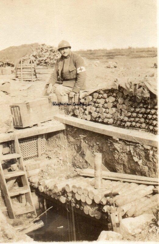 PONTAVERT - Brancardier Position de la Platrerie en avril 1916 WW1 230 RAC