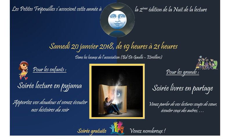affiche nuit lecture Etreillers
