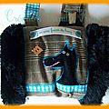 manchon garçon tweed turquoise