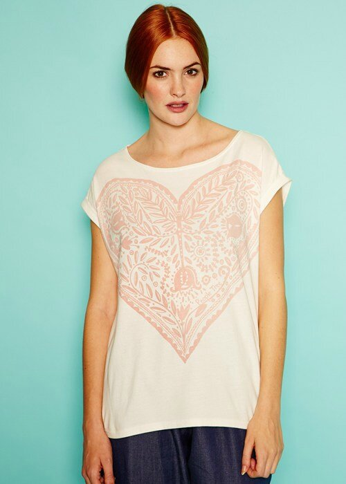 tshirt big-heart in-eco-white