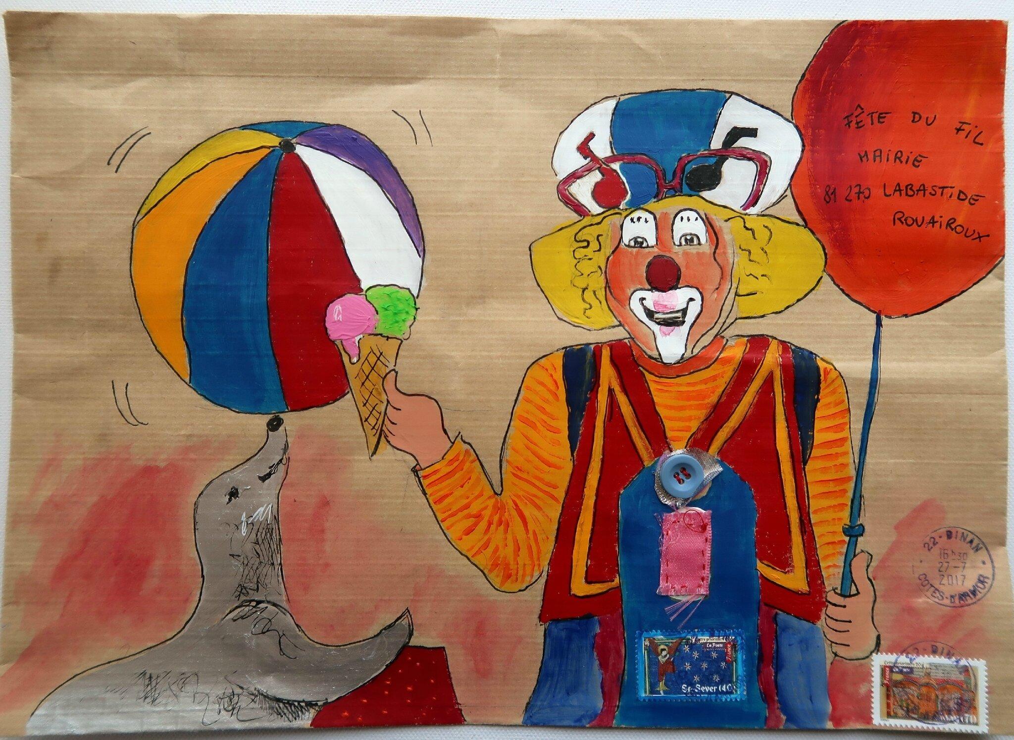 Bongibault Christine art postal fête du fil 2017