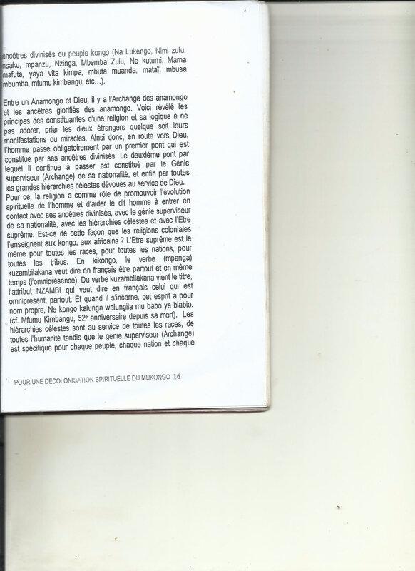 POUR UNE DECOLONISATION SPIRITUELLE DU MUKONGO 16