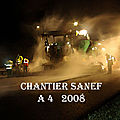 01) Chantier autoroutier de nuit.