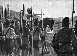 Bataille de_Bannockburn_-_Bruce_addresses_troops