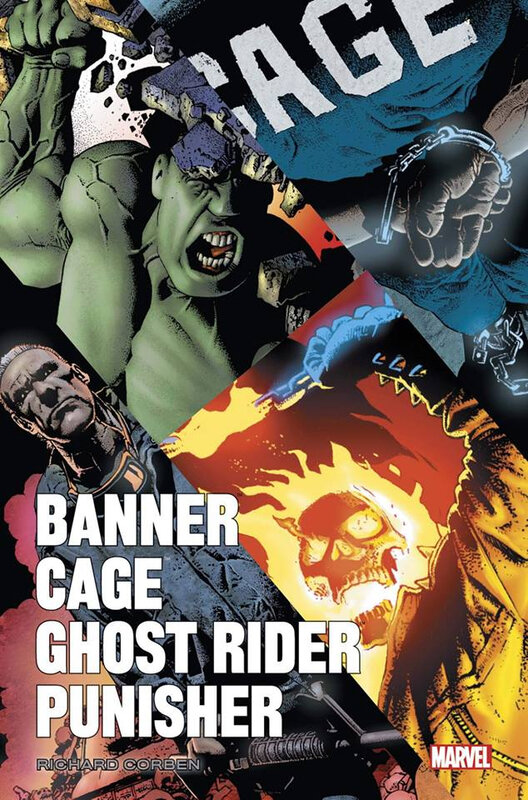 marvel icons banner cage ghost rider punisher par corben