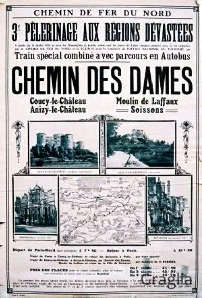 Chemins des dames affiche SNCF