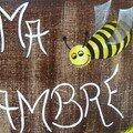 Plaque de porte viellie abeille
