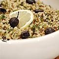 Boulgour, quinoa & laitue de mer pour un taboulé