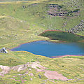 Lac d'Arlet, pic d'Aillary, lac et refuge d'Arlet
