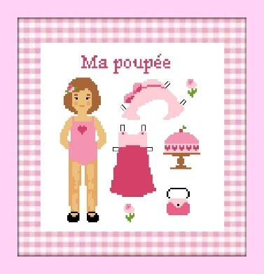 Ma poupée cadre rose
