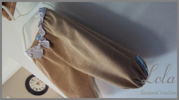 Ens Tunique Courte Pantalon velours 3-6 Mois (1)
