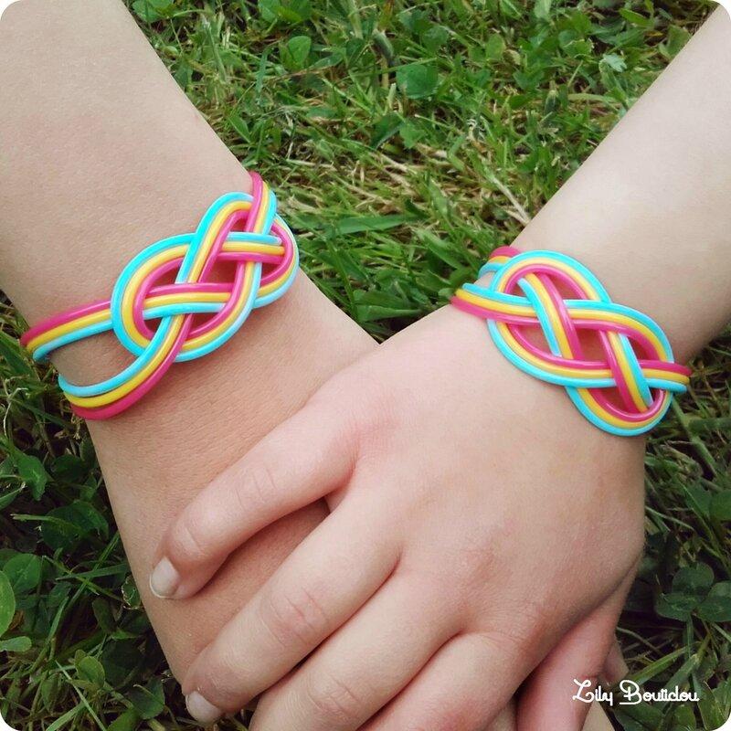 bijoux bracelet scoubidou noeud marin lilybouticlou