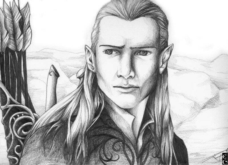Dessins de legolas et arwen terre de l gende - Dessiner un elfe ...
