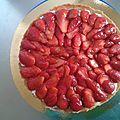Tarte aux fraises ( du chef custos )
