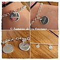 Bracelet maillons petits médailles 15 mm-2