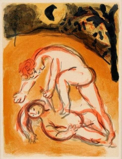 Marc Chagall, Caïn et Abel
