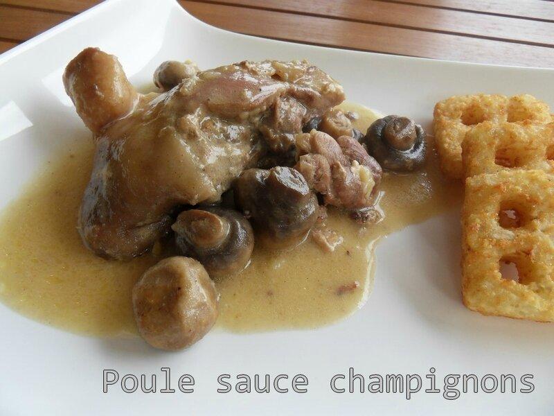 poule sauce champignons