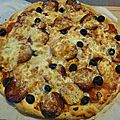 Pizza chévrizo (chèvre et chorizo)